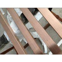 304黑钛不锈钢电镀彩色方管258*28*1.2mm材料