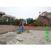 珠海学校篮球架安装 康腾圆管埋地式篮球架 畅销款篮球架安全稳固