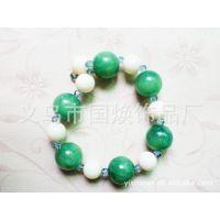 厂家韩版韩式饰品批发 手工穿珠项链水晶来样订做亚克力彩绘手链