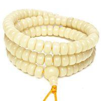原色白菩提根手串天然原籽菩提根佛珠高密精挑108颗素珠佛珠手链