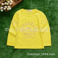 2015秋季新款童装T恤 韩版儿童男童长袖纯棉印花T恤打底衫 童装