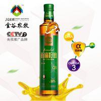 内蒙古金谷金牧亚麻籽油500ml冷榨食用油