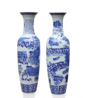 定制西安开业陶瓷花瓶、客厅摆件花瓶、青花瓷大花瓶