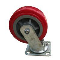 厂家供应 翻耙机聚氨酯脚轮 小型机械脚轮 加工定制