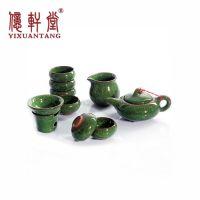 台湾粗陶特价紫砂茶具陶瓷冰裂釉功夫茶具套装茶杯茶海泡茶壶批发