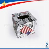 欧标外贸爆款家居用品 礼品纸巾盒 PU包皮纸巾盒定做 可加印logo