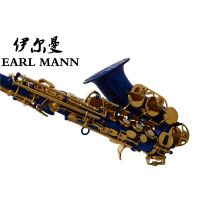 伊尔曼 Earl Mann降B高音小弯管萨克斯 蓝漆儿童高音萨克斯