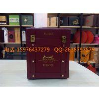 供应高档红酒皮盒6支装 葡萄酒盒 红酒皮盒双支 厂家批量定做红酒盒