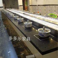 回转火锅设备 烤肉旋转传菜 旋转日式寿司设备 多多乐广东深圳厂家直销全国定制