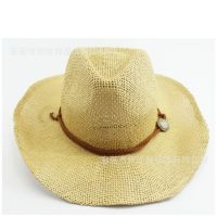 时尚潮草编帽海边渡假沙滩帽夏季防晒遮阳百搭大沿帽户外旅游草帽