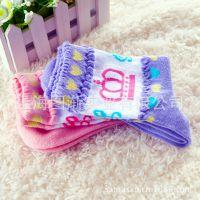 【PLUS VANILLA】日本原单 皇冠花形大号儿童袜