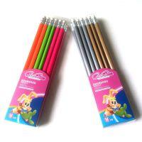 创意铅笔 荧光5色 HB塑料杆铅笔
