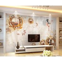 3d立体瓷砖背景墙 客厅电视背景墙浮雕壁画 简约欧式珠宝花朵