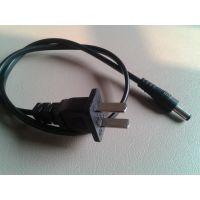 【采购商城】厂家直销标准CCC认证两芯l两小片插头电源线