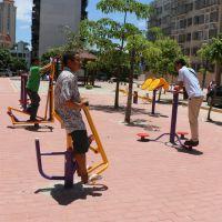 低价供应小区健身器材 柏克健身路径图片规格 双位坐蹬训练器安装