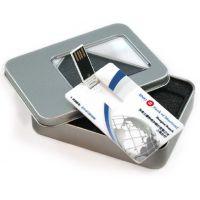 供应企业订做卡片U盘带铁盒包装 广告宣传名片U盘礼品 双面彩印浮雕LOGO