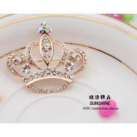 厂家直销 日韩甜美高档女式经典韩版王冠胸针全球速卖通货源