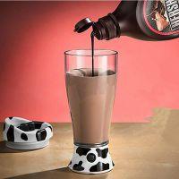 奶牛电动搅拌杯 自动搅拌杯欧式咖啡杯 巧克力牛奶杯 用电池