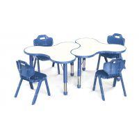 幼儿园桌子|儿童书桌 塑料|儿童学习桌|梅花