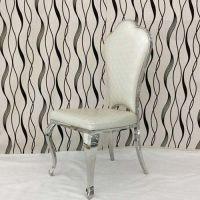 高档餐厅火锅椅厂家定做 欧式餐椅 古典不锈钢休闲靠背椅子 酒店皮艺餐椅