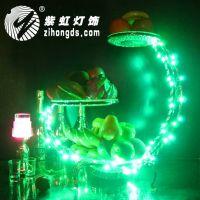紫虹LED发光三层果盘 酒吧用品 夜场灯具 水果盘