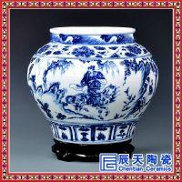 青花瓷花瓶定做 纪念小件收藏花瓶 青花手绘摆件花瓶定做厂家