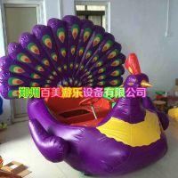 山东淄博儿童气模电瓶车双人孔雀充气电瓶车多少钱?