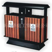 新疆垃圾桶/新疆户外环保塑木垃圾桶厂家直销/果皮箱价格优惠