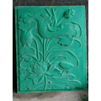 浮雕FD-2荷花浮雕板模具1200长1500高玻璃钢硅胶材质定做