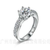 银首饰批发925银结婚戒指鑫博蕙原创首饰设计锆石戒指
