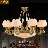 欧式吊灯 全铜客厅云石灯具卧室餐厅书房复古灯饰大气古典