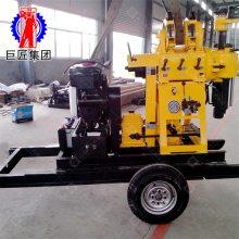 XYX-200轮式水文地质水井钻机 华夏巨匠200米行走式打井机行走方便易操作