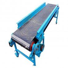 淄博爬坡型环保带输送机 定制各种型号橡胶带输送机