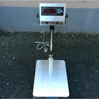 供应上海【不锈钢电子秤】 TCS-200kg全不锈钢台秤立杆秤电子磅秤耀华xk3190a12