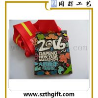 供应金属织带奖牌 锌合金金属压铸奖牌来图稿定做 深圳同辉厂