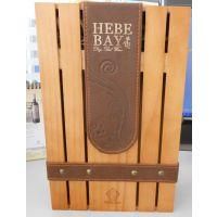 木盒厂现货双支装高档葡萄酒红酒木盒双支木盒可加印logo