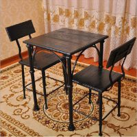 佳华家居 公司员工餐桌椅 餐厅实木桌椅组合 酒吧户外休闲桌椅