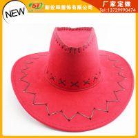 外贸出口厂家直销 西部牛仔时尚遮阳帽 大沿宽边登山骑士帽 定做