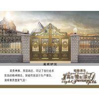 铝合金艺术庭院大门、定制铸铝别墅门、欧雅斯庭院金属整套门、