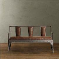 海德利厂家定制 复古铁艺沙发 咖啡厅/餐厅沙发 批发