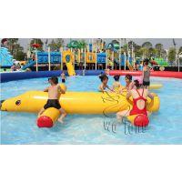 卧龙厂家首次采用热和工艺水乐园水上漂浮物水狗漂浮价格