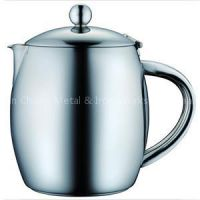 Stainless Steel Teapot, Stainless Steel Teapot With Stay Cool Handle, Double Wall Teapot With Strainer