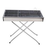 考味佳户外便携加厚不锈钢烧烤炉BBQ烧烤架烤炉立式超大多人8806
