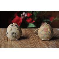 陶瓷饰品 景德镇民族风特色工艺品 手工陶泥招财猫特色风铃批发
