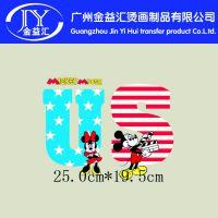 2015年夏季童装t恤,迪士尼米奇老鼠柯式烫画