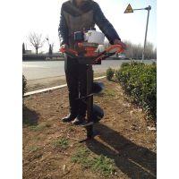 新款手提挖坑机 家用植树打眼机启航牌 汽油施肥挖坑机