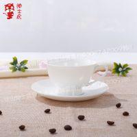 绅士虎欧式陶瓷杯咖啡杯套装纯白骨瓷咖啡套装骨瓷牛奶咖啡杯碟
