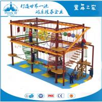 广东儿童吊绳探险设备厂家 广州室内外儿童攀爬绳网游乐设备