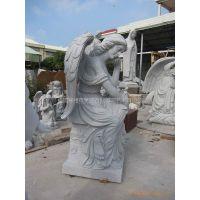 供应石雕-花岗岩西欧人物雕刻品-石料工艺品-坐天使雕刻