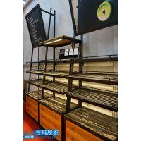 面包店伴手礼柜定做 蛋糕烘焙店连锁店展柜 武汉展示柜厂家直销